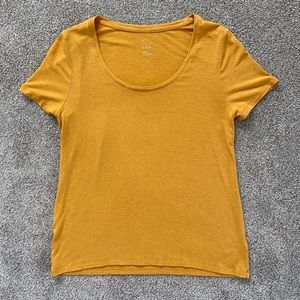 Target A New Day Mustard Yellow SS Scoop Neck Tee